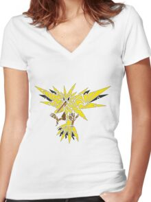 Tribal Zapdos Pokemon Women's Fitted V-Neck T-Shirt