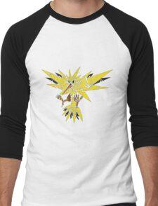 Tribal Zapdos Pokemon Men's Baseball ¾ T-Shirt
