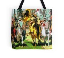 Mounted Knights in Scotland Tote Bag