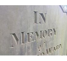 In  Memory Photographic Print