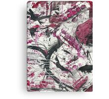 Red World Abstract Design Canvas Print
