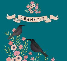 "A  PRETTY, FLORAL, ""BIG THANK YOU"" CARD by Jane Newland"