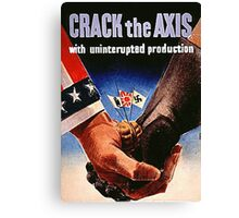 Crack the Axis Canvas Print