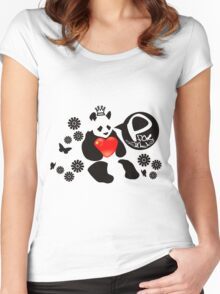 P for Panda Women's Fitted Scoop T-Shirt
