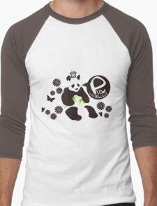 P for Panda Men's Baseball ¾ T-Shirt
