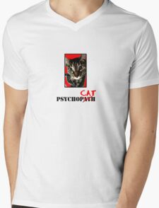 "Psycho""CAT"" #1 Mens V-Neck T-Shirt"