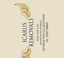 Icarus Removals - business card by paramounthats