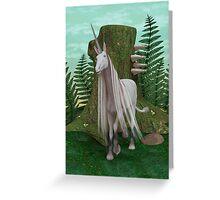 White Unicorn Greeting Card