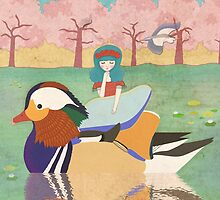 Zoe and her Mandarin Duck by CarlyWatts