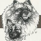 Keeshond Father & Son by BarbBarcikKeith