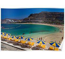 Amadores Beach, Gran Canaria Poster
