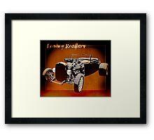 Lowboy Roadster Drawing Ur Wall's Desire Framed Print