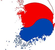 Flag map of South Korea by boogeyman
