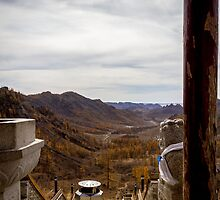 View from a Temple, Mongolia by raredevice