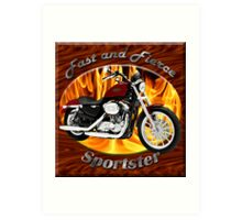 Harley Davidson Sportster Fast and Fierce Art Print