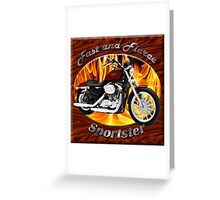 Harley Davidson Sportster Fast and Fierce Greeting Card