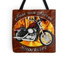 Harley Davidson Sportster Fast and Fierce Tote Bag