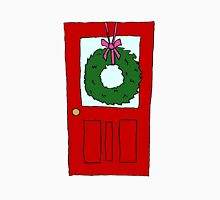 Christmas Wreath on Door Unisex T-Shirt