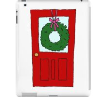 Christmas Wreath on Door iPad Case/Skin