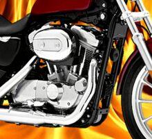 Harley Davidson Heaven Don't Want Me Sticker