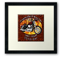 Harley Davidson Heaven Don't Want Me Framed Print