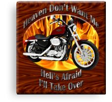 Harley Davidson Heaven Don't Want Me Canvas Print