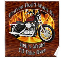 Harley Davidson Heaven Don't Want Me Poster