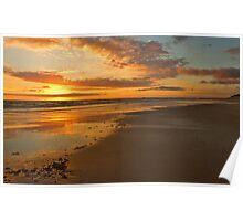 A Goldern Bass Strait Sunset Poster