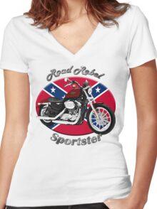 Harley Davidson Sportster Road Rebel Women's Fitted V-Neck T-Shirt