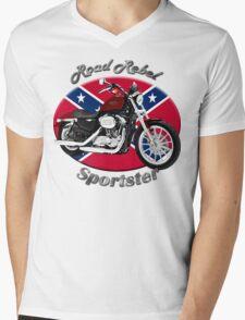 Harley Davidson Sportster Road Rebel Mens V-Neck T-Shirt