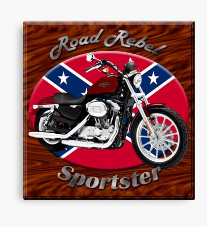 Harley Davidson Sportster Road Rebel Canvas Print