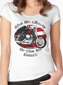 Harley Davidson Sportster Give Me Liberty Women's Fitted Scoop T-Shirt