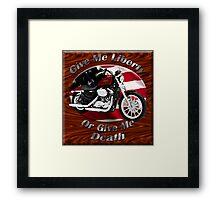 Harley Davidson Sportster Give Me Liberty Framed Print