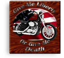 Harley Davidson Sportster Give Me Liberty Canvas Print