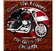 Harley Davidson Sportster Give Me Liberty Photographic Print