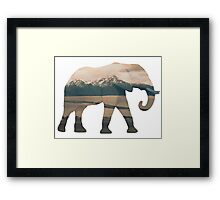 Elephant and Homer Spit Framed Print