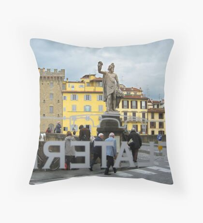 La Dolce Vita part 2, Florence, Italy Throw Pillow