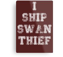 Once Upon a Time - Swan Thief Metal Print