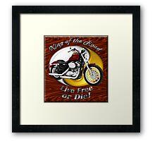 Harley Davidson Sportster King Of The Road Framed Print