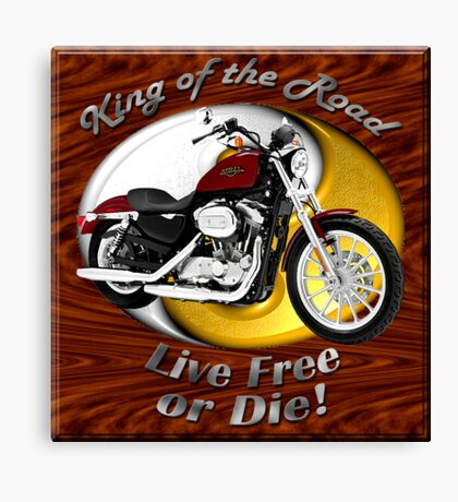 Harley Davidson Sportster King Of The Road Canvas Print