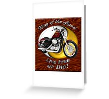 Harley Davidson Sportster King Of The Road Greeting Card