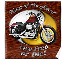 Harley Davidson Sportster King Of The Road Poster