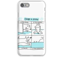 Dogs & snow ... a love story ! / Dog Doodles iPhone Case/Skin