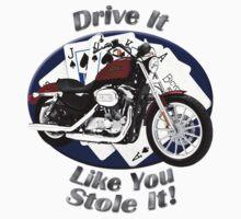 Harley Davidson Sportster Drive It Like You Stole It Kids Tee