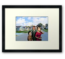 Let's Party This Suburb Into A New Religion Framed Print