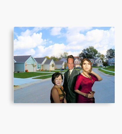 Let's Party This Suburb Into A New Religion Canvas Print