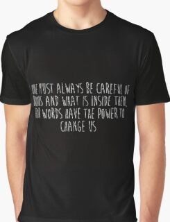 One Must Always Be Careful Of Books (black) Graphic T-Shirt