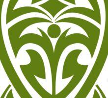 Green Tribal Turtle Sticker