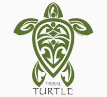 Green Tribal Turtle One Piece - Long Sleeve