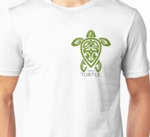 Green Tribal Turtle Unisex T-Shirt